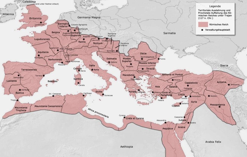 Karte Imperium Romanum